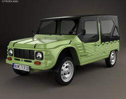3D model Citroen Mehari 1968