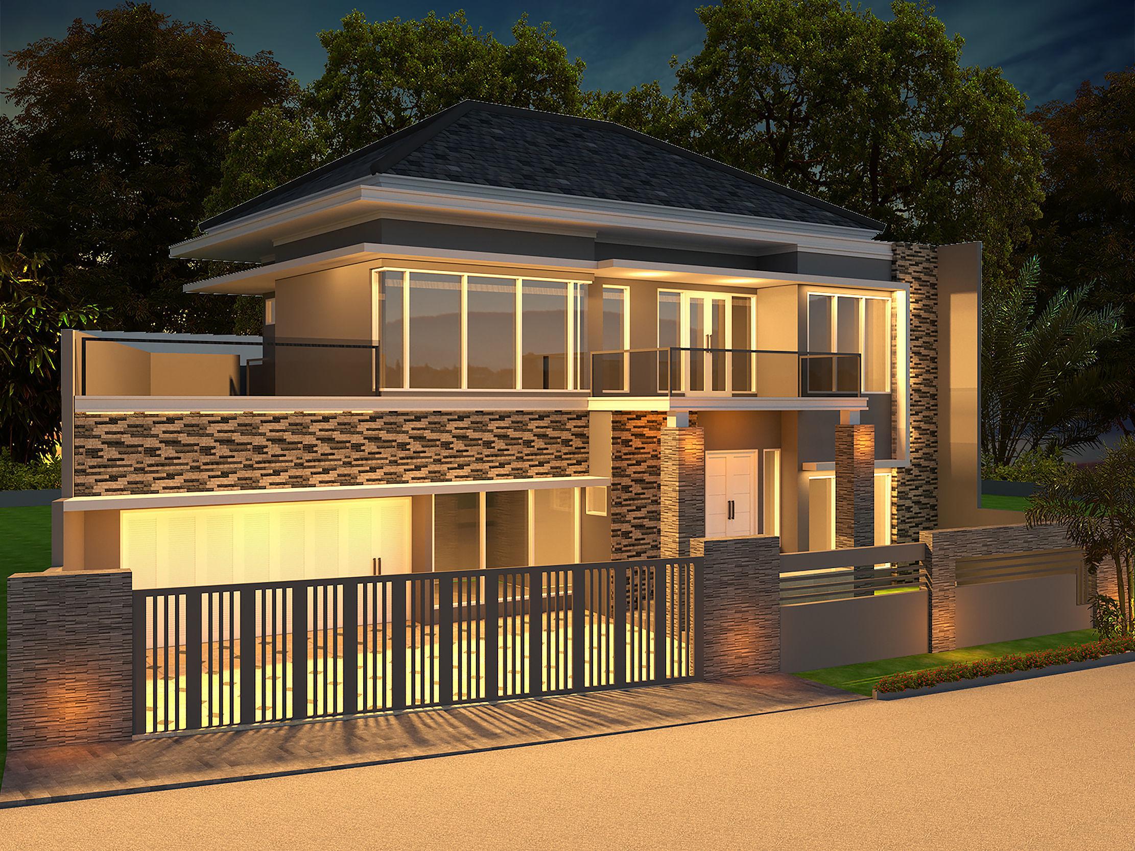Semi modern house 3d model