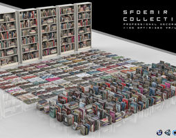 3D model SFDEMIR Professional Book Collection Decoration