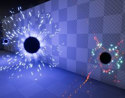 3D model Sci-Fi Particle Projectile FX Pack