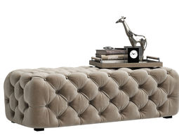Zgallerie Jules Tufted Bench 3D