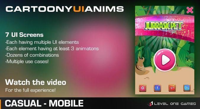 cartoony ui anims 3d model low-poly animated tga uasset 1