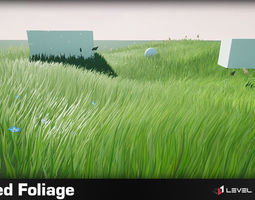 3D model Stylized Foliage Pack