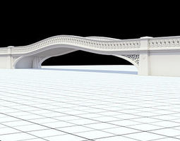 3D model Highly detailed Central Park bow-bridge