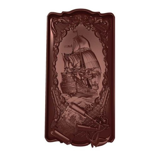 sailing panel bas relief 3d model obj mtl stl ztl 1