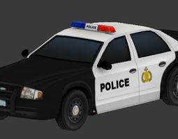 3D asset game-ready Police Car car