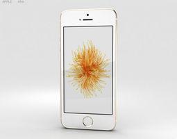 3D model Apple iPhone SE Gold ios