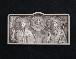 holy Trinity blessed Trinity sacred 3D print model 1