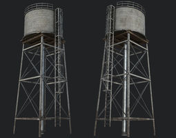 3D model Farm Silo 7 PBR