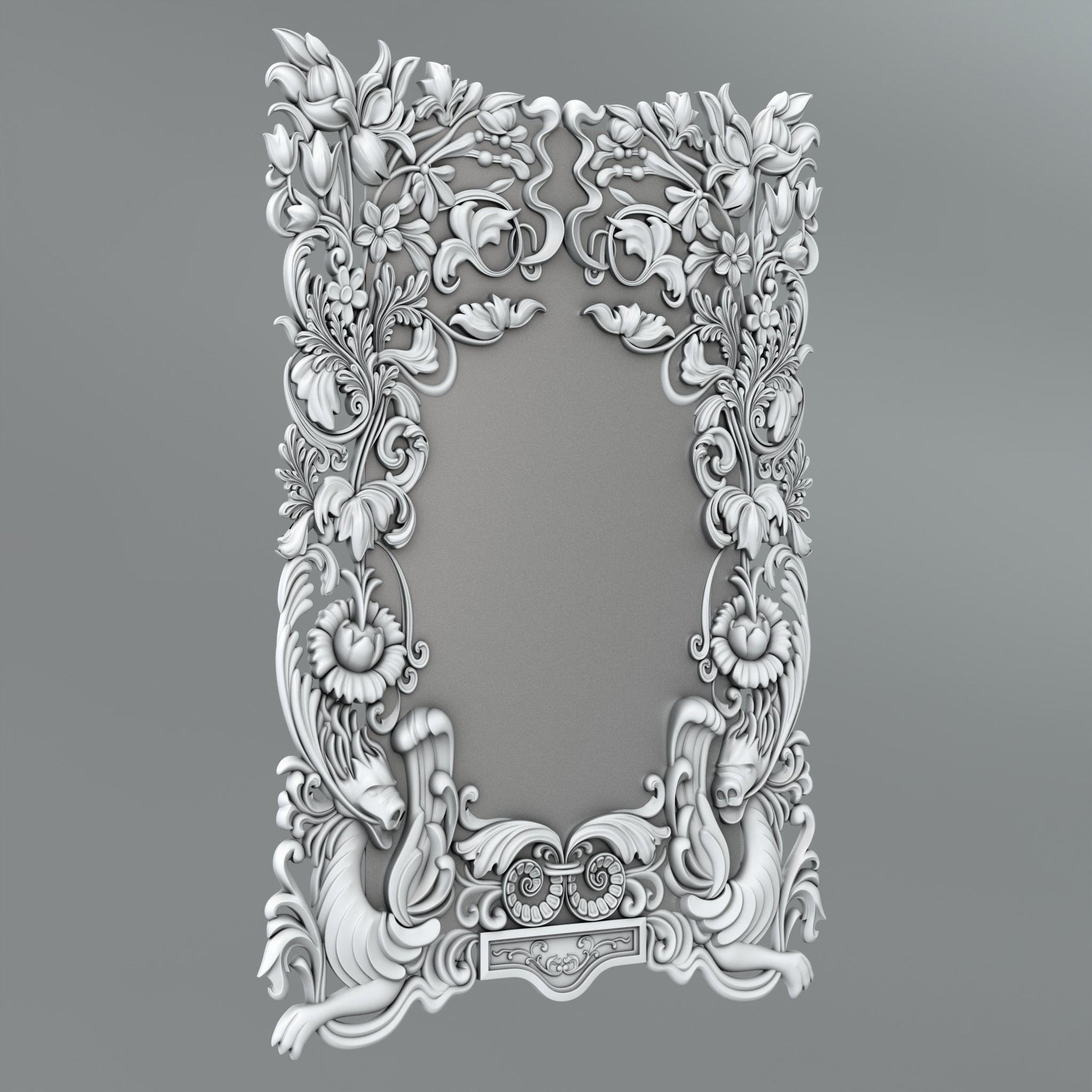 Frame for mirror 25