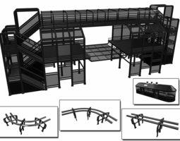 3D model Sci-Fi Modular Tram Kit