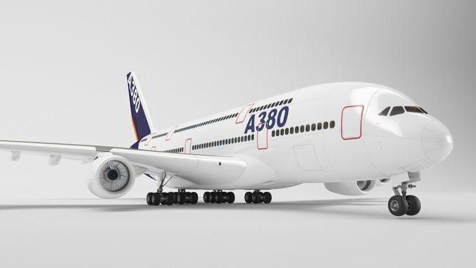 airbus a380 - element 3d 3d model max obj 3ds fbx c4d mtl 1