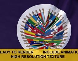 animated OAS 3d Flag