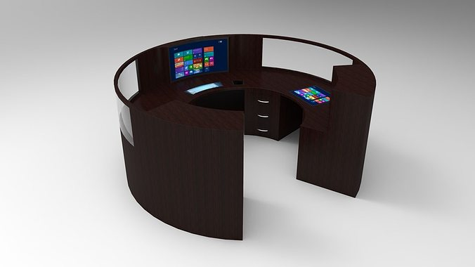 pc table 8 3d cgtrader