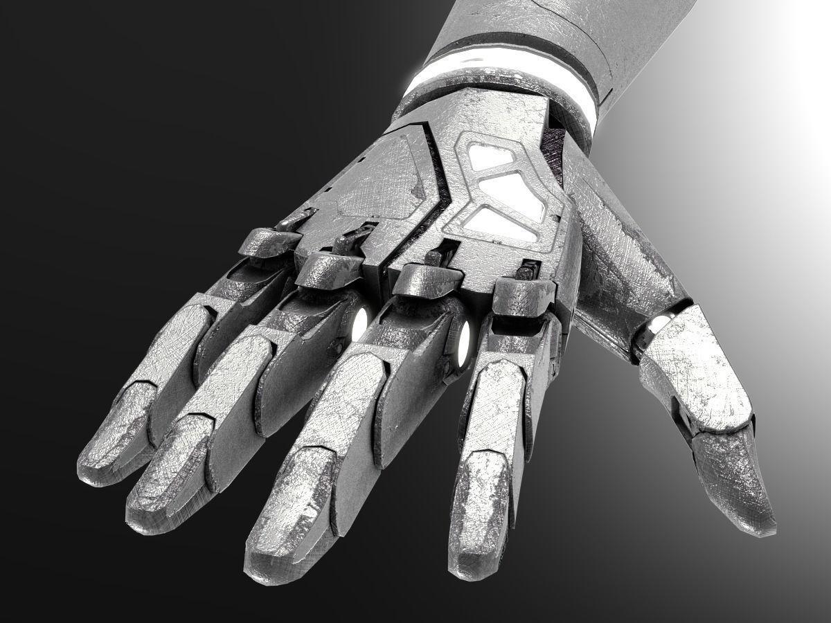 Robot hand dirt | 3D model