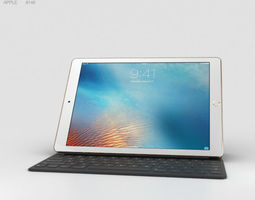 apple 3D model Apple iPad Pro 9-7-inch Gold