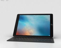 Apple iPad Pro 9-7-inch Space Gray 3D model