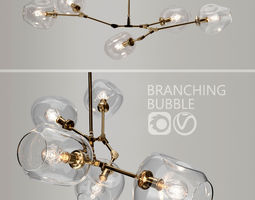 Branching bubble 5 lamps by Lindsey Adelman CLEAR 3D model