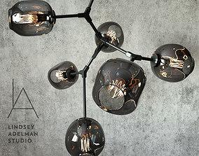Branching bubble 6 lamps by Lindsey Adelman DARK BLACK 3D