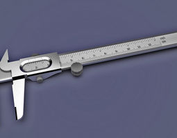 office Vernier Caliper 3D model