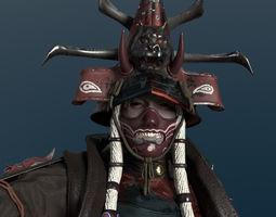 Undead Samurai Rigged 3D model