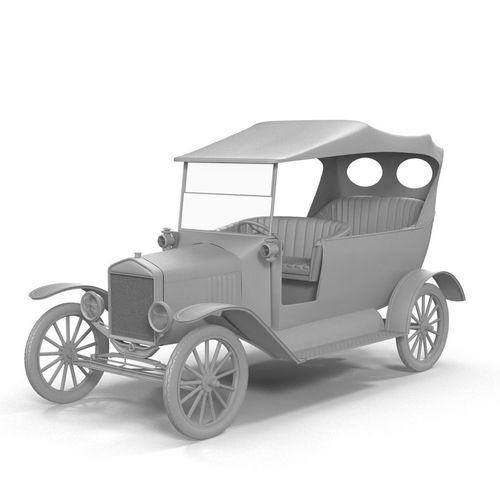 vintage car 3d model low-poly max obj mtl 1