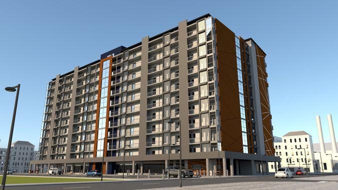 Apartment Building Modern Architecture 2018   3D model