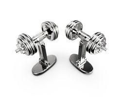 Dumbbells cufflinks 3D printable model