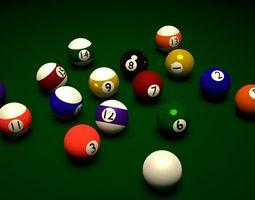 sports 3D model Pool Balls