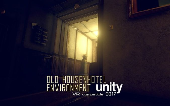 old house or hotel unity pack 3d model low-poly unitypackage prefab 1