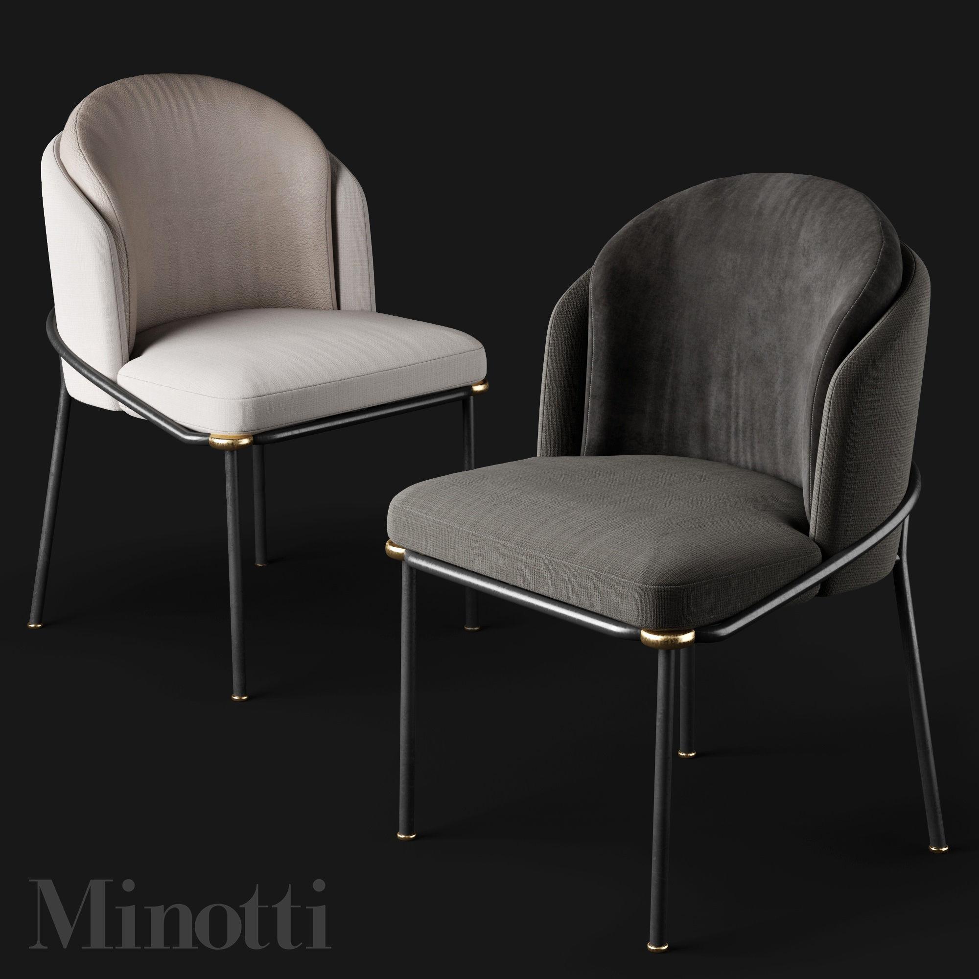 Dining Chairs Minotti Fil Noir Model