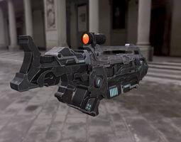 PBR 3d model realtime machine gun concept