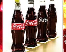coke - coca cola glass bottle 3d model max obj 3ds fbx