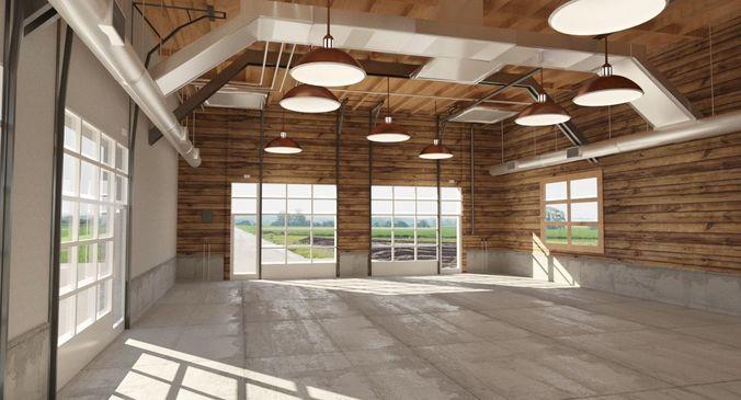 Car Garage To Loft Style 3D Model