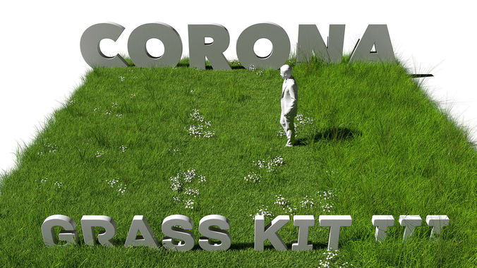 grass kit iii for c4d and corona render 3d model rigged c4d 1