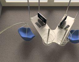 V office desk 3D