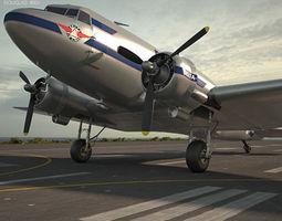 r4d Douglas DC-3 3D model