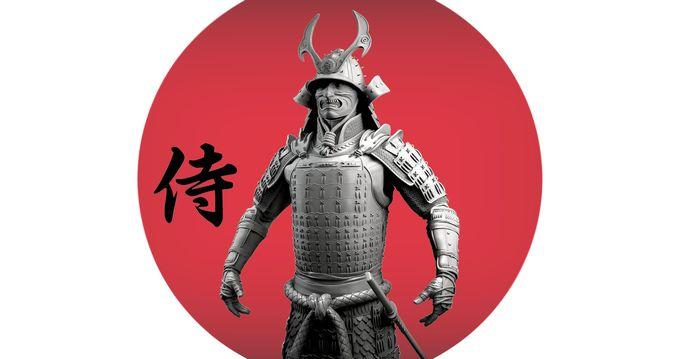 samurai 3d model obj mtl ztl 1