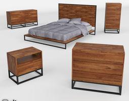 3D model Logan Industrial Bedroom Collection by West Elm