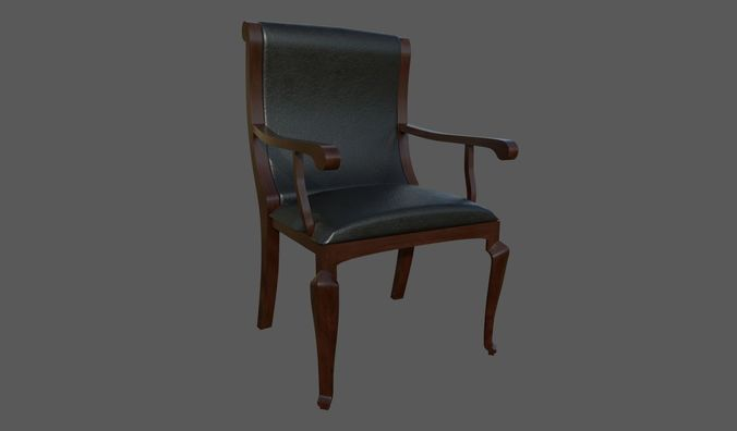 classic chair 3d model 3d model fbx dae 1
