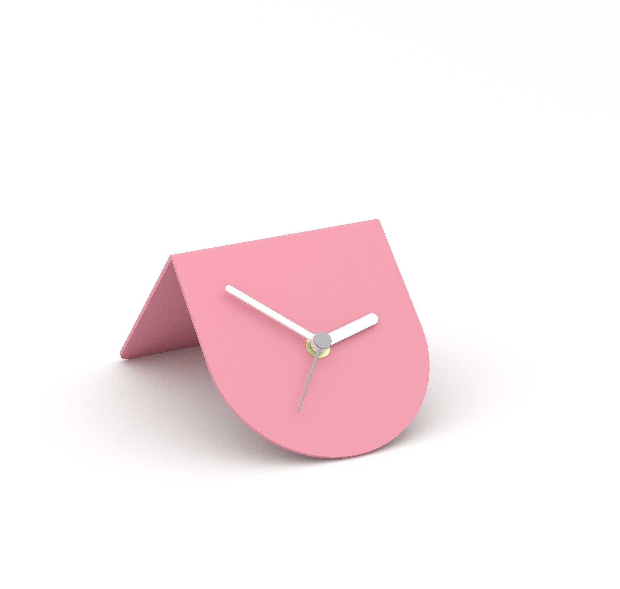 Desk Clock 3d Model Collection Obj 3ds Fbx Blend 7