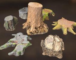 7 TREE STUMPS 3D model