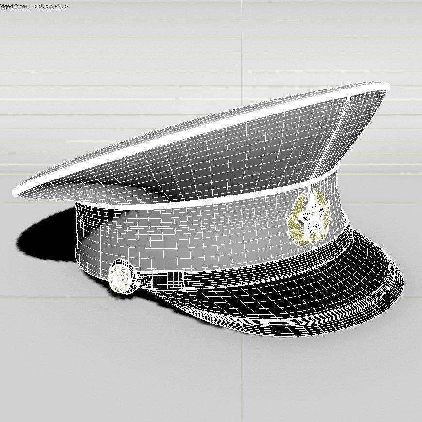 76480e5ed8b ... military cap 3d model max obj mtl 2 ...