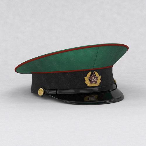 301a86fde92 Military cap 3D model