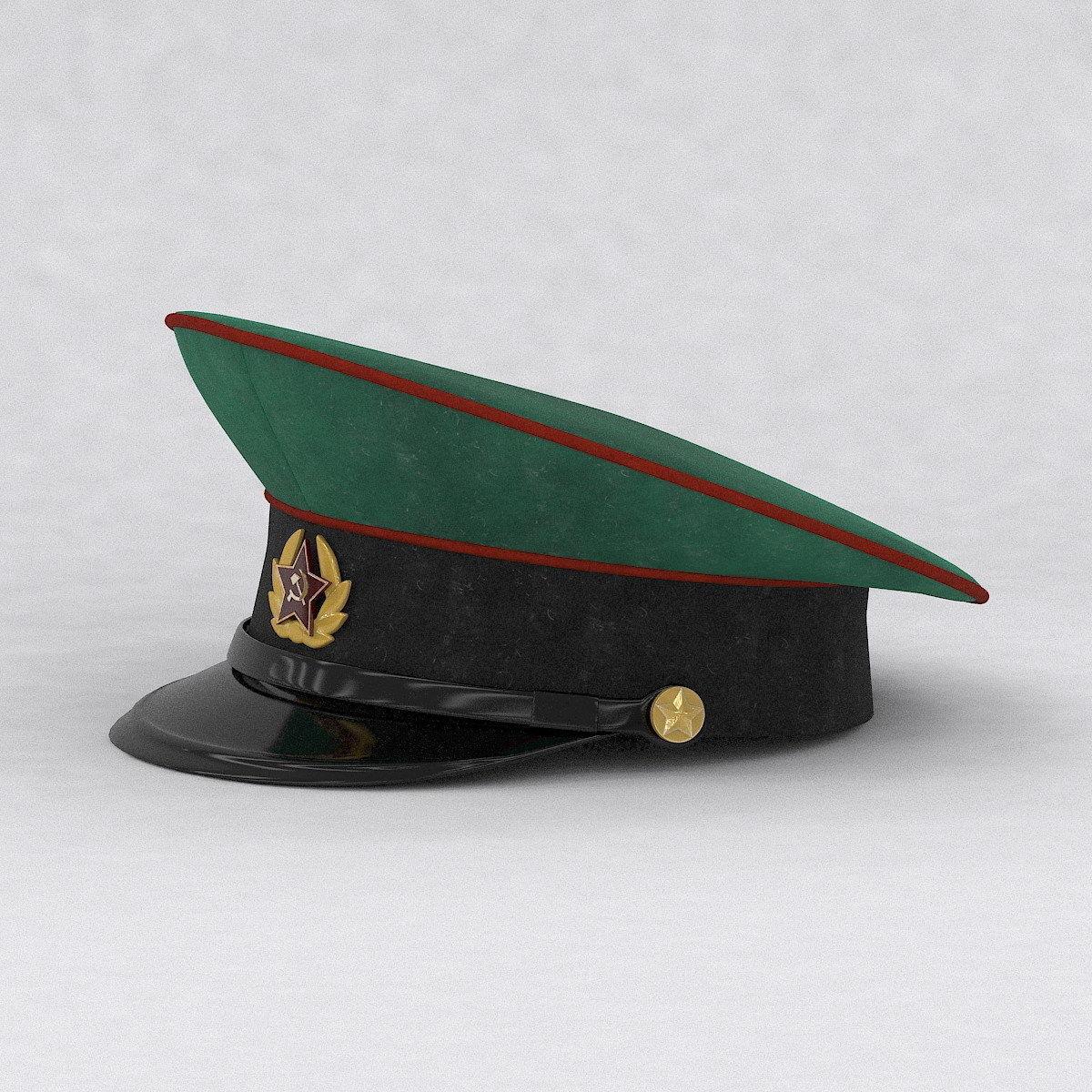 11a61935927 ... military cap 3d model max obj mtl 3