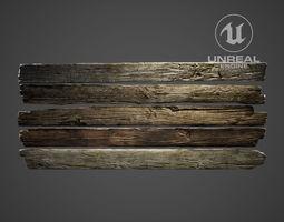 Fence Wood Planks 3D asset