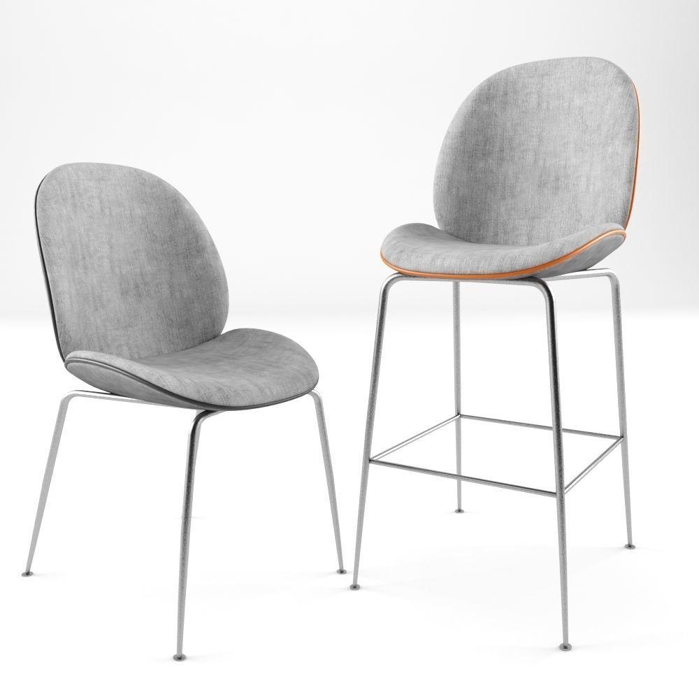 Gubi Beetle Dining Chair 3d Model Max Obj Mtl 1 ...