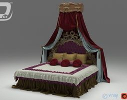 3D Cein King Bed
