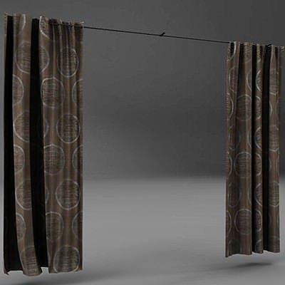cortinas 3d model max obj mtl 3ds fbx ma mb 1