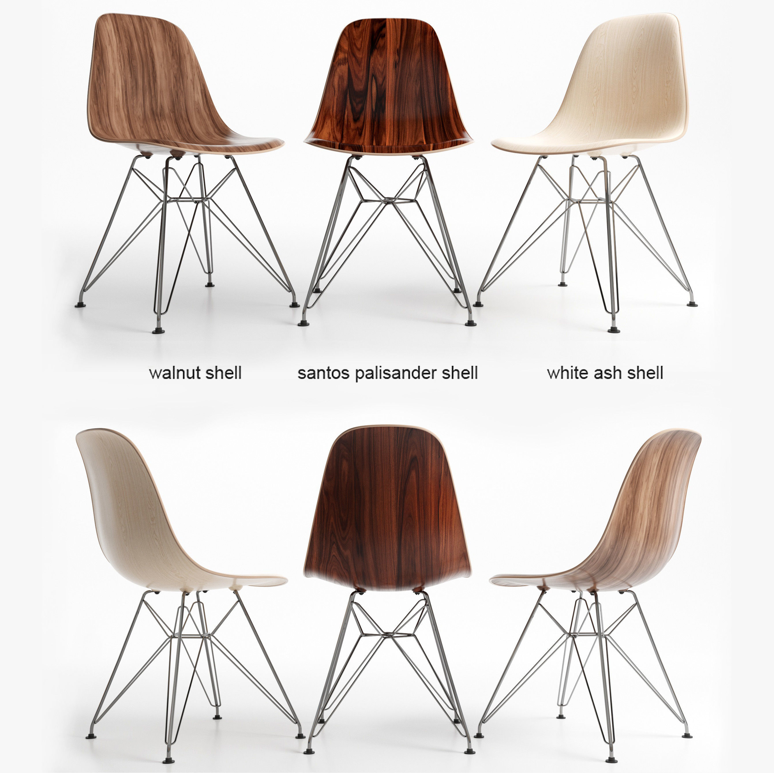chairs eames dsr wood 3d model max obj fbx mtl 1 ...  sc 1 st  CGTrader : dsr chair - Cheerinfomania.Com